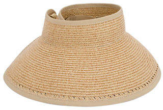 Nine West Packable Roll-Up Sun Visor Hat