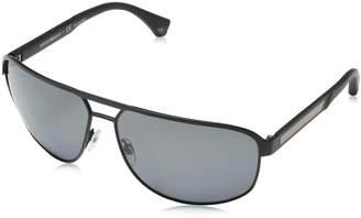 Emporio Armani Men's Polarized EA2025-300181-64 Square Sunglasses