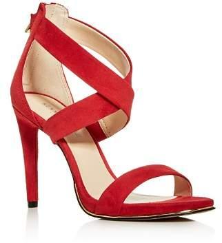 Kenneth Cole Women's Brooke Leather Crisscross High-Heel Sandals