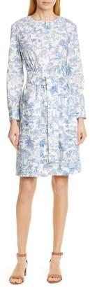 Tory Burch Long Sleeve Cotton Shirtdress