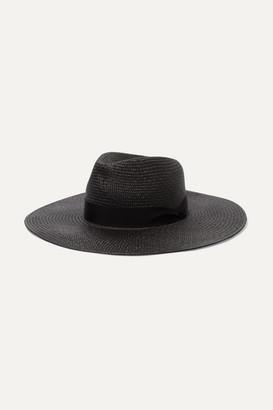 Rag & Bone Grosgrain-trimmed Straw Panama Hat - Black