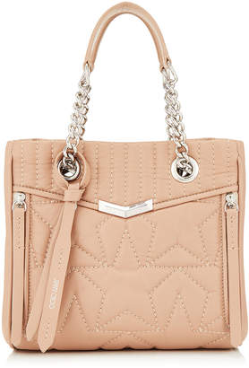 Jimmy Choo HELIA SHOPPER/S Small Ballet Pink Star Matelasse Nappa Leather Shopper Bag