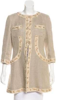 Chanel Embellished Linen Coat