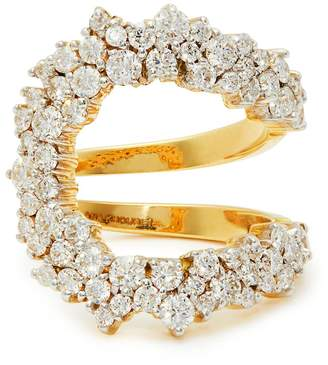 A.N.A KHOURI Mirian 18kt gold & diamond ring