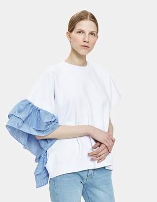 MSGM Ruffled Short Sleeve Sweatshirt