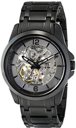 Relic Men's Cameron Automatic Self-Winding Stainless Steel IP Skeleton Dial Watch