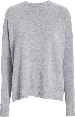 Derek Lam 10 Crosby Boxy Silk-Wool Crewneck Sweater