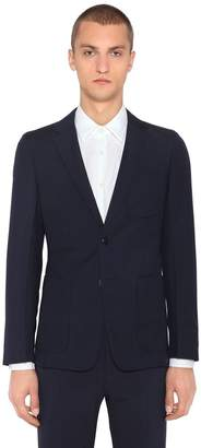 Prada Slim Virgin Wool & Mohair Twill Jacket