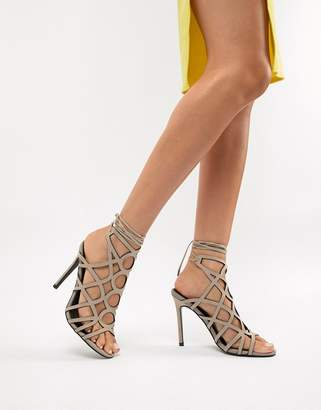 Asos DESIGN Husk Caged Heeled Sandals