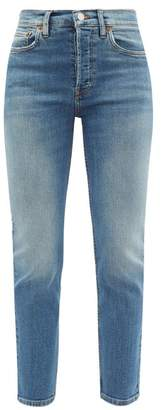 RE/DONE High Rise Cropped Slim Leg Jeans - Womens - Denim