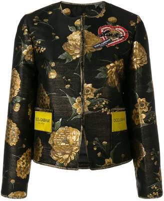 Dolce & Gabbana floral embroidered jacket