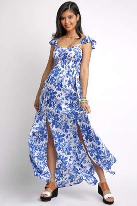 Tiare Hawaii Off Shoulder Smock Bodice Maxi Dress