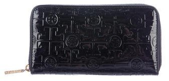 Tory Burch Tory Burch Logo Embossed Leather Wallet