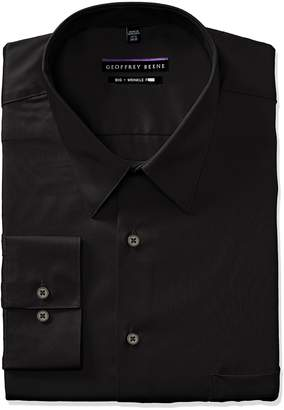 Geoffrey Beene Men's Sateen Big Fit Solid Point Collar Dress Shirt