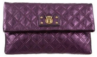 Marc Jacobs Marc Jacobs Quilted Metallic Leather Clutch