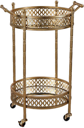 Artistic Home & Lighting Artistic Home Banded Round Bar Cart