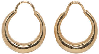 All Blues Gold Fat Baby Snake Earrings