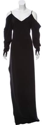 Halston Cold-Shoulder Maxi Dress w/ Tags