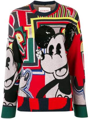 Iceberg Mickey Mouse sweater