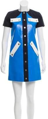 Courreges Vegan Leather Mini Dress
