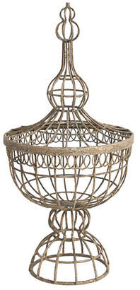 A&B Home Finial Wire Basket