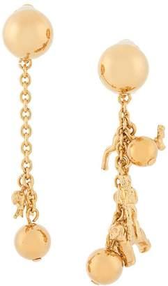 Marni asymmetric animal charm earrings