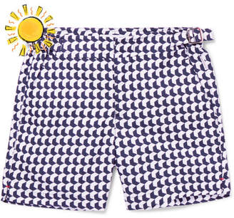 Orlebar Brown Boys Ages 4 - 12 Russell Aruba Printed Swim Shorts - Navy