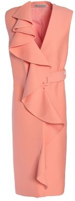 Emilio Pucci Belted Ruffled Wool And Silk-Blend Vest