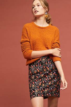 Endless Rose Embroidered Velvet Mini Skirt