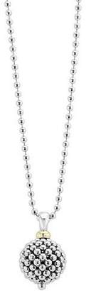 "Lagos Caviar Forever Ball Pendant Necklace, 34""L"