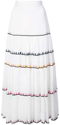 Carolina K. embroidered full skirt