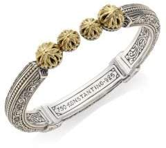 Konstantino Gaia Etched Hinged Bangle