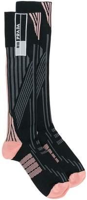 Prada patterned logo socks