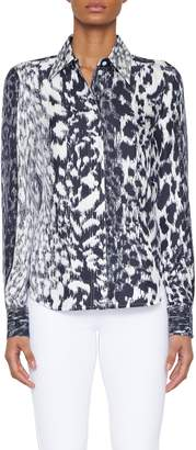 Victoria Beckham Longsleeve Printed Blouse