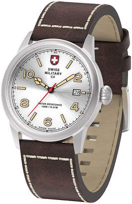 Swiss Military BY CHARMEX By Charmex Vintage Mens Brown Strap Watch-78335_8_E