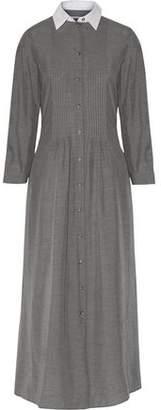 MM6 MAISON MARGIELA Cotton Poplin-Paneled Pintucked Voile Maxi Dress