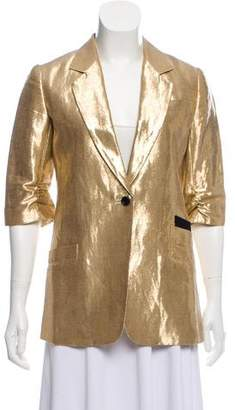Elizabeth and James Linen Metallic Blazer