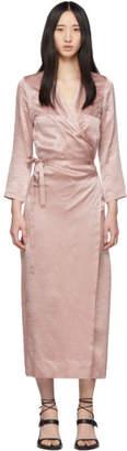 Ann Demeulemeester ピンク ロング ラップ ドレス