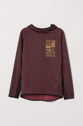 H&M Hooded Sports Shirt - Red