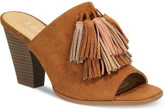 Esprit Billie Peep-Toe Tassel Sandals $69 thestylecure.com