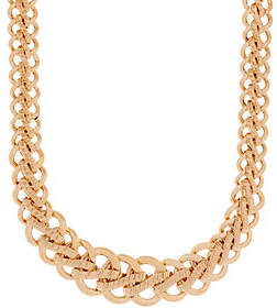 "Italian Gold 20"" Bold Woven Necklace 14K Gold,34.4g"