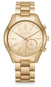 Michael Kors Slim Runway Goldtone Stainless Steel Hybrid Smartwatch