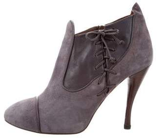 Tabitha Simmons Cap-Toe Suede Booties