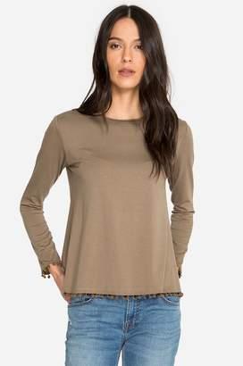 Johnny Was Katina 3/4 Sleeve Deep Scoop T-Shirt