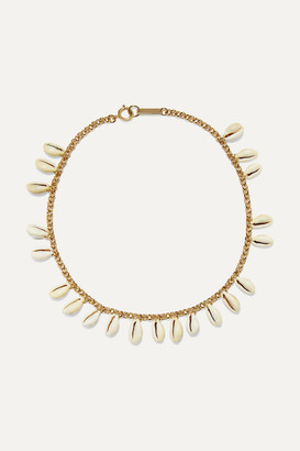 Isabel Marant Gold-tone And Shell Choker - Ecru