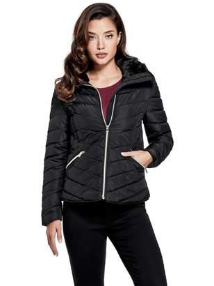 Factory Guess Women's Cyrus Faux-Fur Puffer Jacket