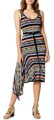 Karen Millen Asymmetric Striped Dress