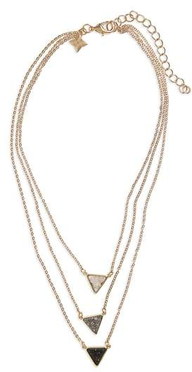 Drusy Multistrand Necklace