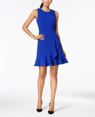 Jessica Howard Petite Sleeveless Ruffle Dress
