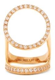Alan Crocetti - Halo Crystal Embellished Sterling Silver Ring - Womens - Gold